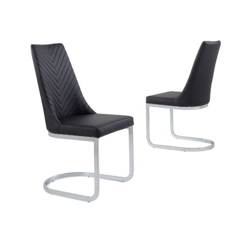 Curve Classic Milano Stitch Dining Chair - Black